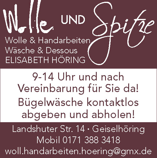 Wolle-Spitze